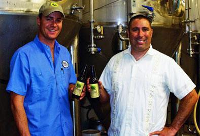 Marble Brewery brewmaster and cofounder Ted Rice (left) and cofounder John Gozigian
