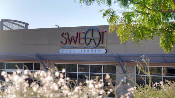 Delynn Davidson and Joe Fox are opening Sweat Yoga Studio in The Shops @ Presidential Plaza this weekend.