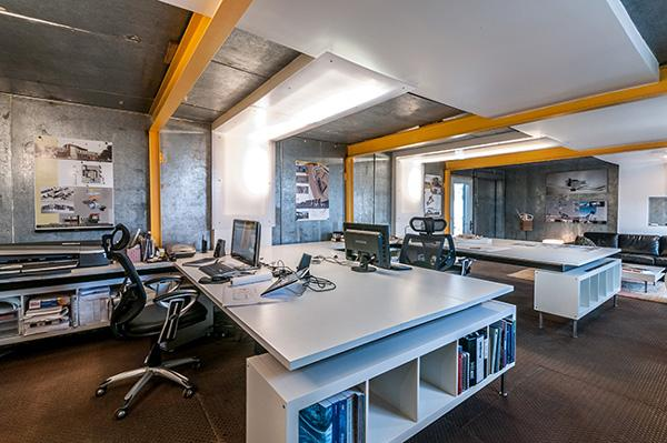 Architect Vahid Mojarrab, principal of WAMO Studio LLC, recently converted a 550-square-foot walk-in freezer into the firm's office and workshop space.