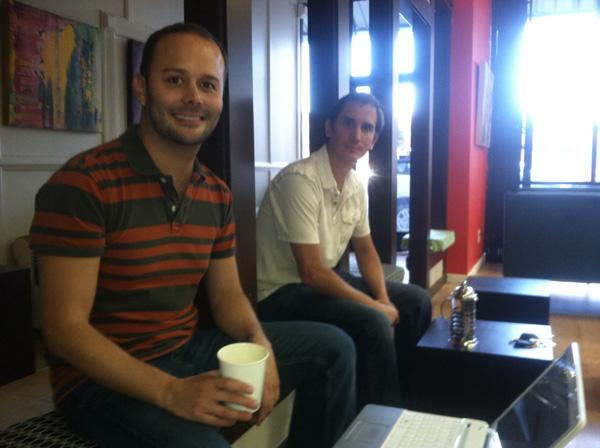 Brothers Juan and David Certain (at right) have opened a new coffee shop at 311 Gold Ave.