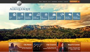 The city of Albuquerque's new homepage which goes live at 9 p.m. MST August 3 at cabq.gov.