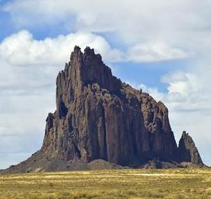 The iconic rock formation near Shiprock, N.M.