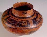 COOKING POT, 1880-1915, Pueblo of Picuris, micaceous clay, The Albuquerque Museum, Museum Purchase, 1995 General Obligation Bonds, PC1998.22.7