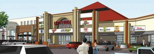 Artist rendering of Uptown Eatery @ Winrock Town Center