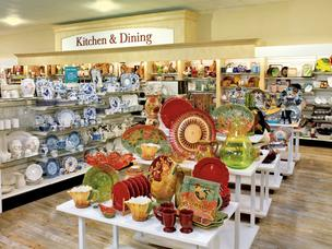 HomeGoods kitchen and dining section