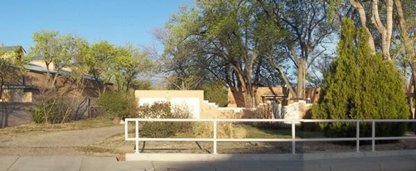 "Architect Garrett Smith is transforming an old farmhouse and field in Albuquerque's North Valley into a 10-home ""pocket neighborhood"" called Acequia Jardin, according to a news release. Pictured is the site at which the project will be developed."