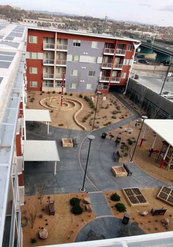 Silver Gardens (above) has been a success for Romero Rose, and led to the Casitas de Colores project Downtown. Casitas is the latest Romero Rose development to qualify for tax credits. Construction is scheduled to start in November.