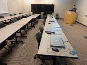 Steve Sauceda in an NMJC smart room.
