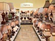 HomeGoods lighting section