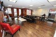 The community room offers a place for residents to work, relax and interact.