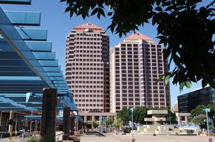 The city of Albuquerque is seeking to foreclose on the Albuquerque Plaza office building Downtown, pictured, saying the owner has not paid Business Improvement District taxes.