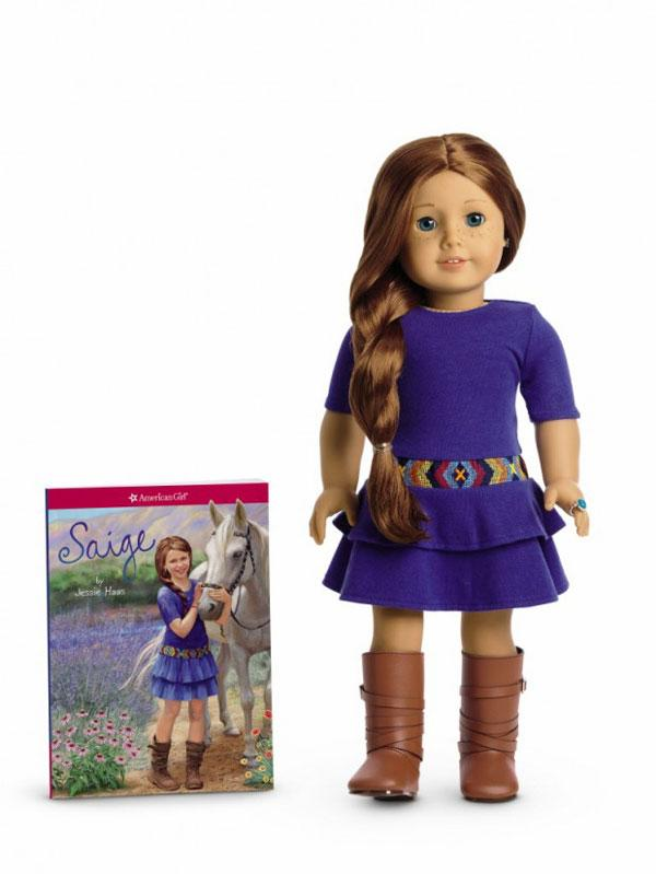 Saige, and others in the American Girl doll series, are credited with boosting Mattel's earnings.
