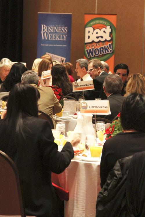 More than 300 businesspeople attended the Best Places to Work breakfast.