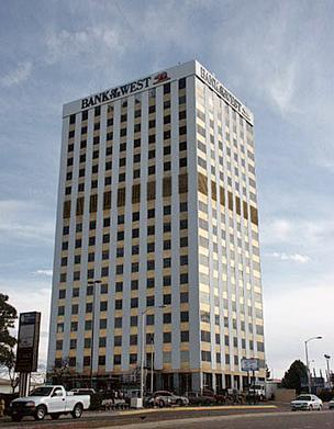 CB Richard Ellis has listed the Bank of the West building at 5301 Central NE and the nearby Two Park Central Tower at 300 San Mateo NE for sale.