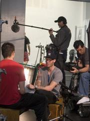 """Dyksterhouse on the set of """"The Proving Grounds."""""""