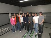 """Dyksterhouse (far right) with the crew of """"The Proving Grounds."""""""
