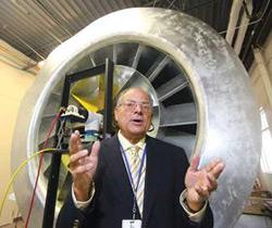 Lovelace Respiratory Research Institute President & CEO Robert Rubin explains how the wind tunnel at the institute tests toxic agents on test dummies.