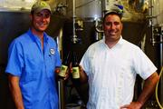 Marble Brewery Brewmaster and Cofounder Ted Rice (left) and Cofounder John Gozigian.