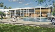 An artist's rendering of the campus