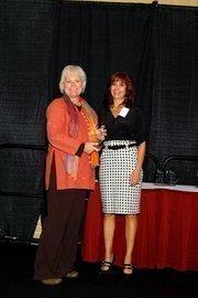 (l to r) Becky Borowski with Lisa J. Adkins