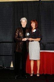 (l to r) Virginia DeBolt and Lisa J. Adkins