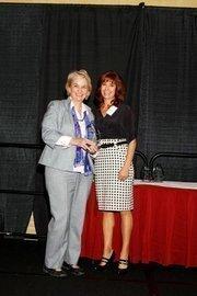 (l to r) Jeanne Gleason with Lisa J. Adkins