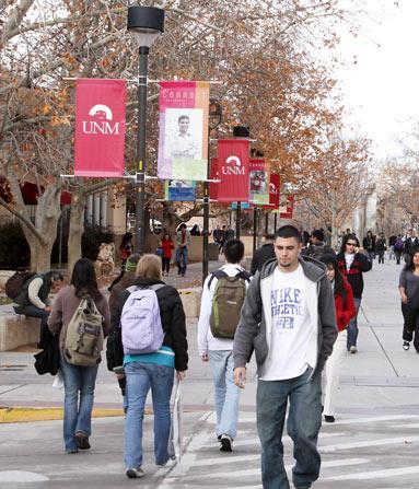 UNM and Mesalands are continuing to expand their partnership. Pictured is UNM's main campus.