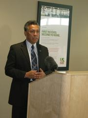 County Commissioner Art De La Cruz gave remarks before the ceremony.