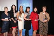 The category winners. Pictured from left to right are Mary Stramel, Samantha Adams, Dawn Davide, Katherine Yuhas, Carolyn Ortega and Edna Lopez.