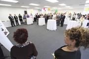 Inside the Downtown YMCA Child Development Center during ribbon cutting ceremonies