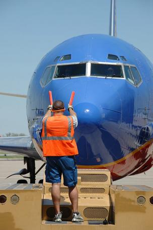 Southwest Airlines improved its traffic at Port Columbus International Airport by 1.5 percent in January.