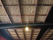 "Trujillo installed this ceiling inside the dining room for an ""open air"" feel."