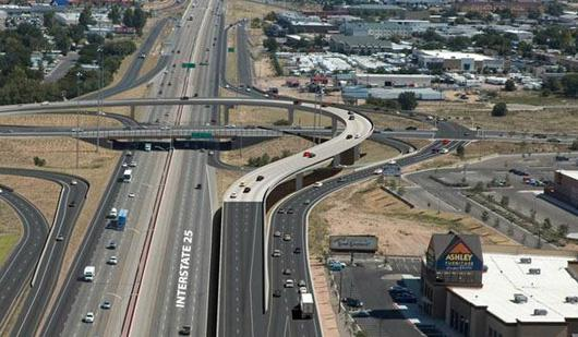 Travel on the northbound lanes of I-25 at Paseo Del Norte will be limited from 9 p.m.-5 a.m. today as reconstruction of the interchange continues.