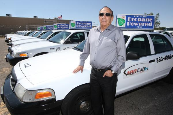 Albuquerque Cab Co. President Shawkeet Hindi is in the process of having his 33 Crown Victorias and seven Ford Econoline vans converted to the use of propane to save on expenses and create an environmentally friendly fleet.