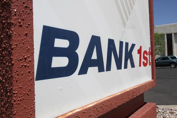 If federal regulators approve, these Bank 1st signs could change in October to ones that read Main Bank. A merger of the two small business banks could create the largest locally owned community bank by deposit share in Bernalillo County.