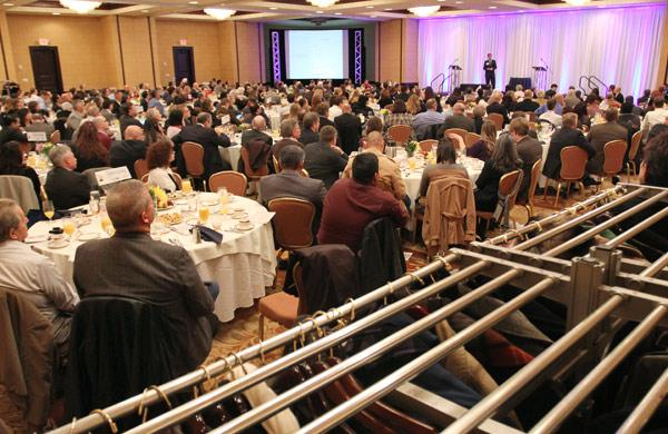 About 400 people attended the eighth annual Economic Outlook Conference Tuesday at the Crowne Plaza hotel sponsored by the city of Albuquerque, Wells Fargo, PNM and Albuquerque Business First.