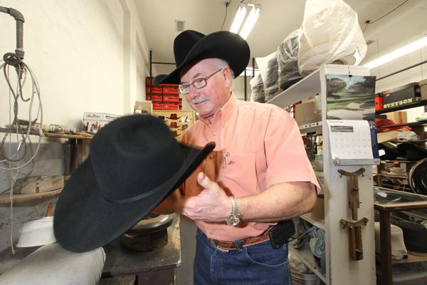 Stuart Dunlap's Man's Hat Shop carries 4,000 hats and sells its wares online.
