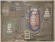 An overhead diagram of the NAPA Speedway