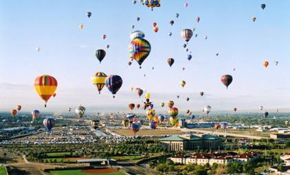 The Albuquerque International Balloon Fiesta saw nearly 50,000 more visitors this year than in 2009.