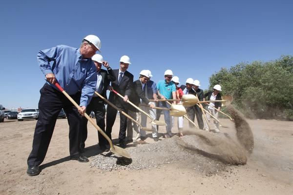One of the few big new industrial projects in the region recently was Admiral Beverage Corp.'s distribution plant, where local officials turned out for the groundbreaking in May 2012, shown in this file photo.