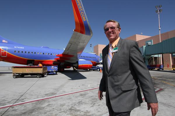 Jim Hinde, director of the city of Albuquerque's aviation department, says a business park could boost the airport.