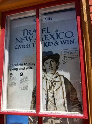 """The state's """"Catch the Kid"""" promotion was designed to get tourists hunting for clues to Billy the Kid's whereabouts, traveling around New Mexico and spending money at local businesses."""