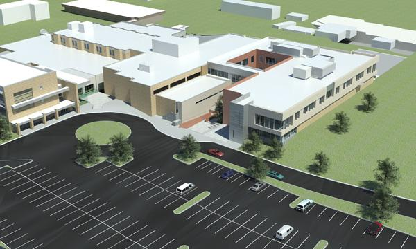 Presbyterian Healthcare Services has a variety of projects in the works, including a $15.8 million, 54,000-square-foot project in Española, pictured above, that includes 34 private inpatient rooms.