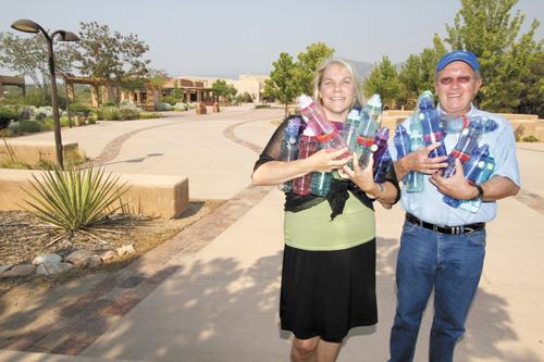 Kelly Waller of the Santa Fe International Folk Art Market is teaming with Stephen K. Wiman's Good Water Co. to provide water stations for festivalgoers, who can buy the refillable bottles pictured for $5. The festival is expected to attract about 20,000 to Santa Fe's Museum Hill in July.