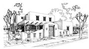 A sketch of a Pueblo Revival style home that one day might be owned by a resident of the Mesa del Sol development in south-central Albuquerque.