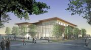 New Mexico Highlands' new student center, shown in a rendering, is expected to open this year. It will feature a dining facility, theater space, computer lab, campus bookstore, post office, game room and cafe.