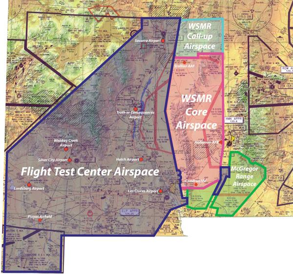 The Unmanned Aircraft Systems Flight Test Center airspace spans 15,000 square miles, as shown on the above map, and is the nation's only FAA-approved drone flight test center.
