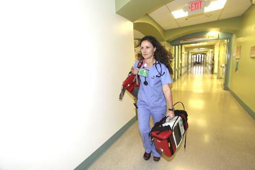 Melissa Wolfe is a REACT-STAT nurse at Lovelace Medical Center in Albuquerque.