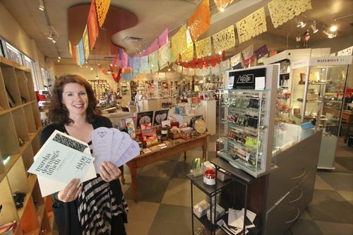Emily Rembe Benak sells a range of gifts and specialty papers, including customized wedding announcements, at Pennysmiths Paper.