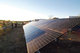 These are solar panels installed by Positive Energy at Santa Fe Skies RV Park.